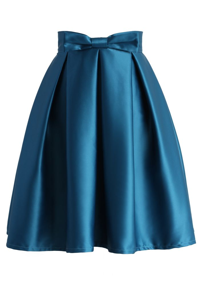 Sweet Your Heart Pleated Skirt in Sapphire Blue - New Arrivals - Retro, Indie and Unique Fashion