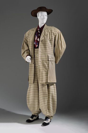 Undertaking the Making: Costume & Textiles Pattern Project | LACMA: Free patterns/ plans for multiple historical garments like this Zoot Suit with an interesting 4 piece sleeve.