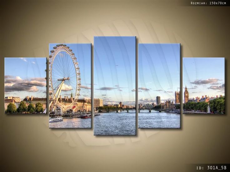 ArtGaleria Obraz drukowany Londyn 150x70cm GALERIA