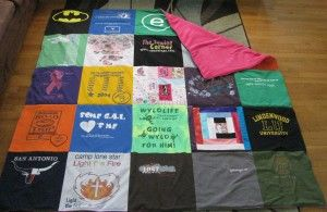 T-Shirt Quilt - great idea for thrifting