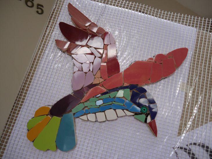 Colibrí realizado en Mosaiquismo.