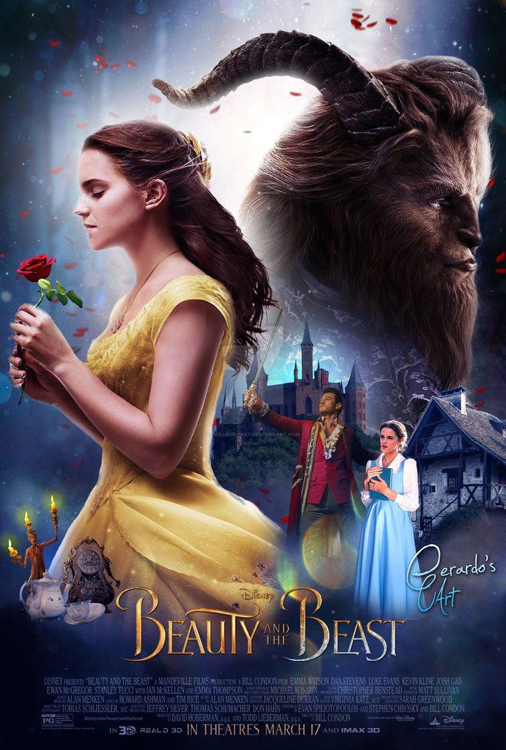 Beauty and The Beast  Final Poster by GerardosArt on DeviantArt  Beauty and the Beast 2017