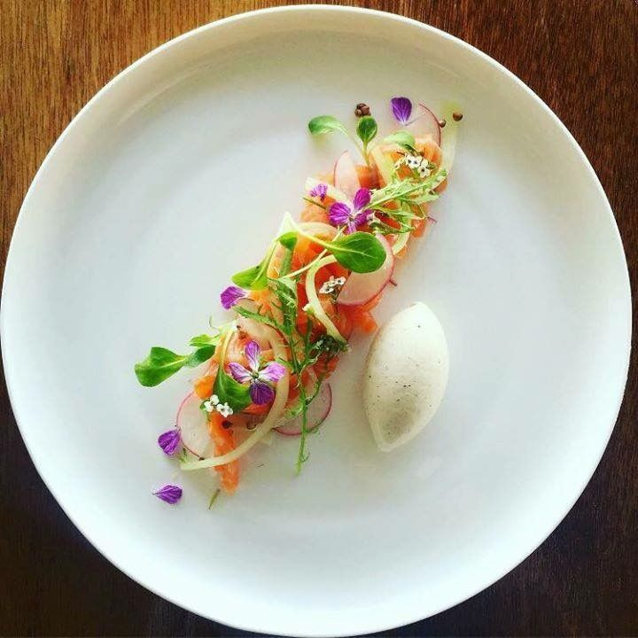 smoked salmon and flowers fine dining pinterest smoked salmon salmon and smoking. Black Bedroom Furniture Sets. Home Design Ideas