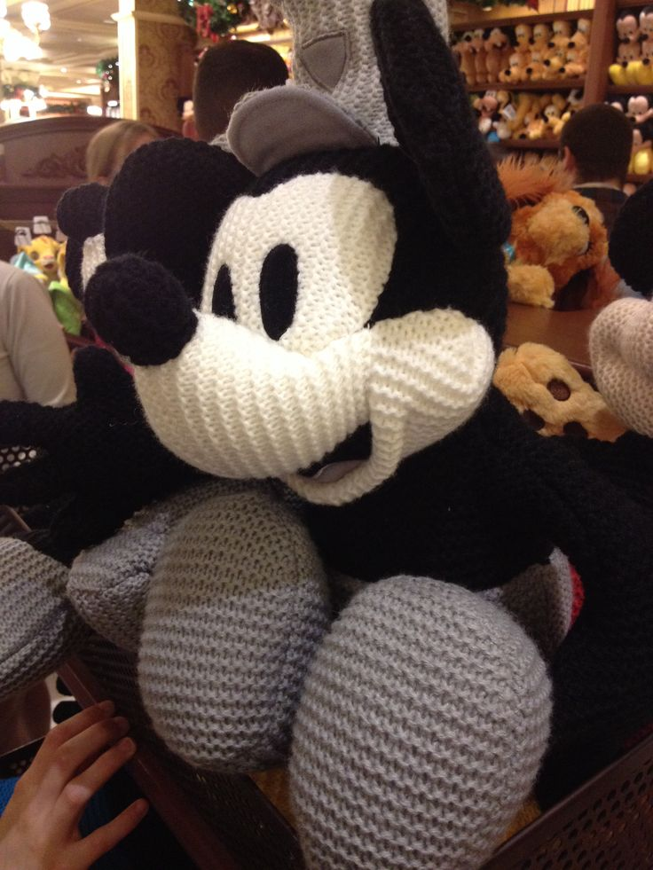 Steamboat Willie knit plush