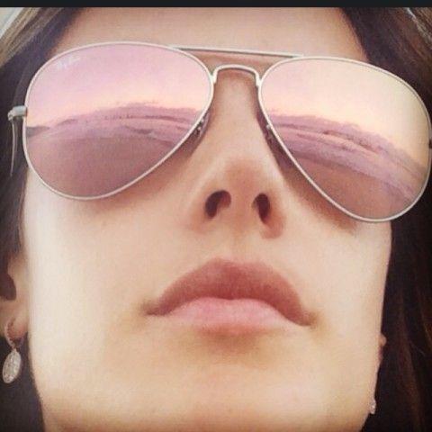 ray ban aviator mirrored sunglasses brown pink  ray ban pink mirrored aviators