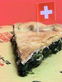 Swissh chard, spinach, ham and cheese Italian savoury pie - Erbazzone reggiano con formaggi svizzeri e prosciutto cotto