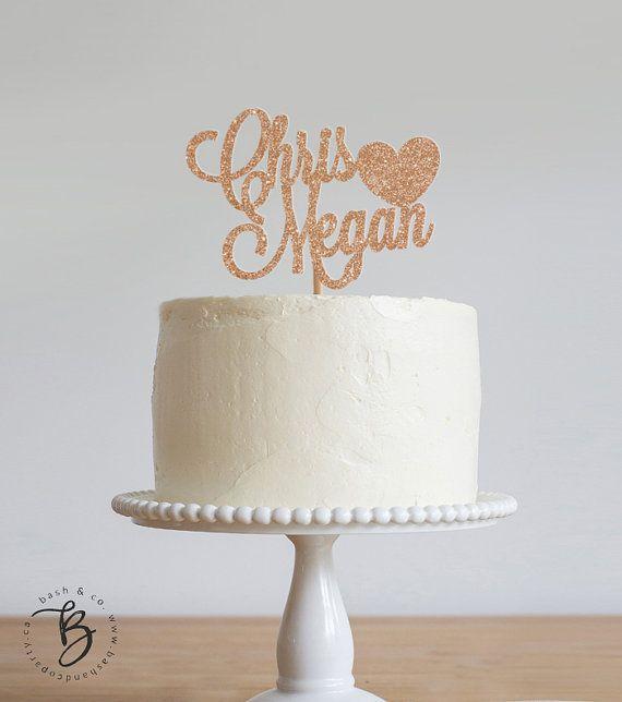 Personnaliser le gâteau de mariage avec le nom de la mariée et le marié!. Idéal pour les mariages, les douches nuptiales et les fiançailles !  Sil