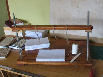 CdC. Soporte de cosido. encuadernadores de madera