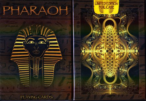 Pharaoh Playing Cards Limited Edition Foil Case By Collectable Playing Cards - (Out Of Print) Available at http://www.playingcards4magic.com/products/collector/