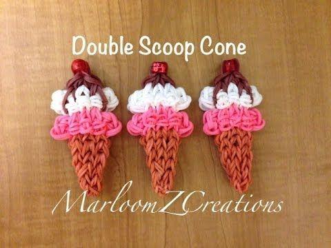 cool Rainbow Loom Ice Cream Cone - Nederlands IJsje met bolletje