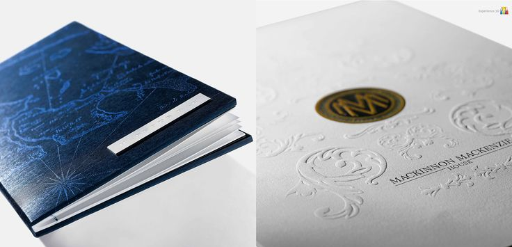 premium finishing materials and texture papers with embossing and foiling