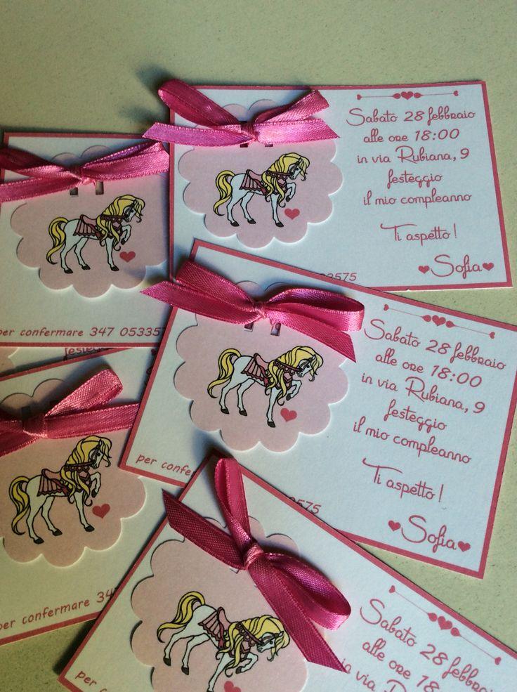 Inviti di compleanno! #inviti #card #edigìstudio #cavallo