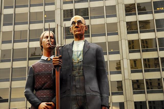 Chicago. Grant Wood y su Gótico Americano. by fdecastrob, via Flickr