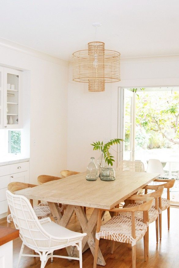 Home Tour: A California Eclectic Home In Silicon Valley Via   Loving The  Dining Chairs