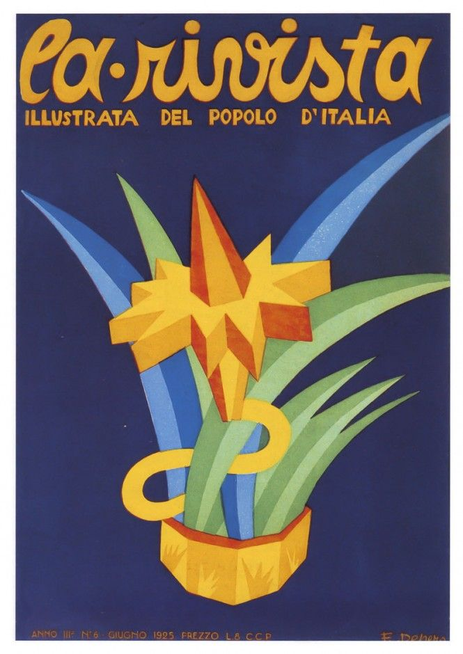 "La Rivista illustrata del Popolo d'Italia (the illustrated magazine for the Italian people), Italian Fascist magazine. June 1925. Artist: Fortunato Depero (1892-1960). A periodical supplement to the daily newspaper ""Il Popolo d'Italia"", founded by Benito Mussolini in 1914 (and shut down on July 26, 1943, the day after the end of the Fascist regime)."
