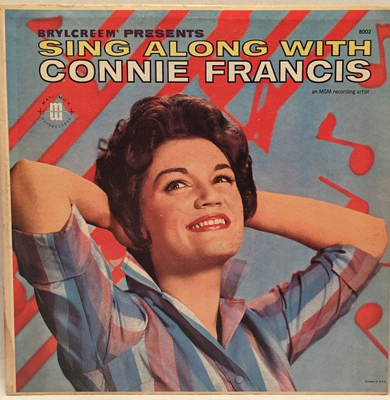 Brylcreem Presents Sing Along With Connie Francis Promo LP