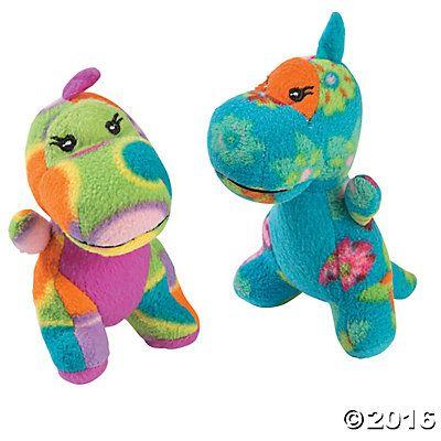 Plush Printed Dinosaurs $19.99 X 12 Oriental Traiding