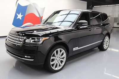 2015 Land Rover Range Rover Supercharged Sport Utility 4-Door 2015 LAND ROVER RANGE ROVER L 4X4 SUPERCHARGED NAV 21K #239243 Texas Direct Auto