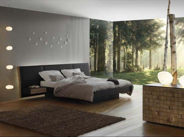 Modele De Chambre A Coucher Pour Adulte : chambre #design #gris #nuances