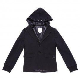 giacca nera con cappuccio
