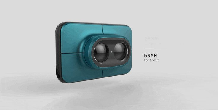 the dual camera features two rotating lenses for switching pespectives