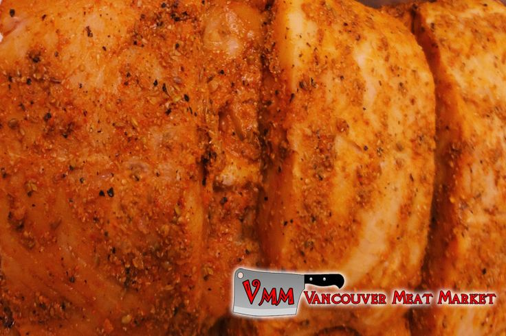 Seasoned Salmon Fillets at Vancouver Meat Market