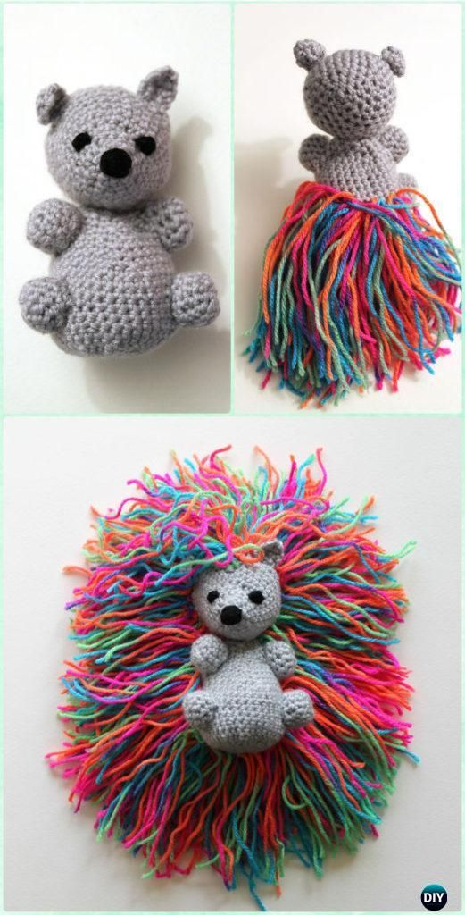 Crochet Amigurumi Hedgehog Punk Free Pattern - Crochet Amigurumi Little World Animal Toys Free Pattern