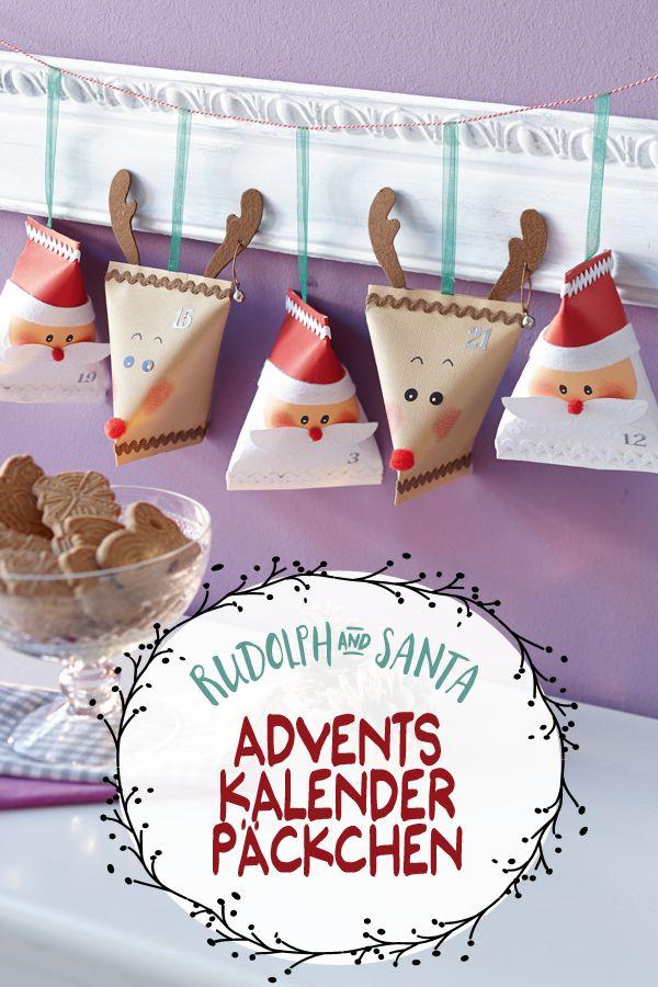 24 süße Päcken für den Advent.