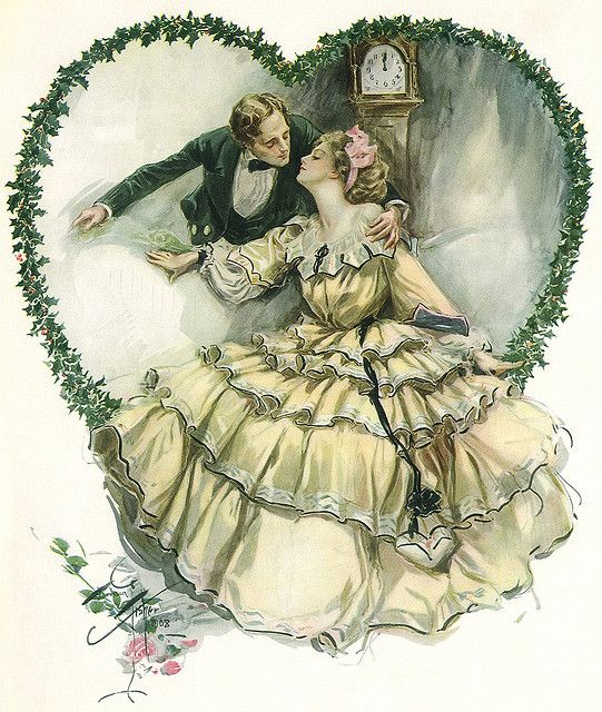 Illustration by Harrison Fisher ~ wedding scrapbook