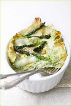 Lasagne con asparagi, ricotta e limone