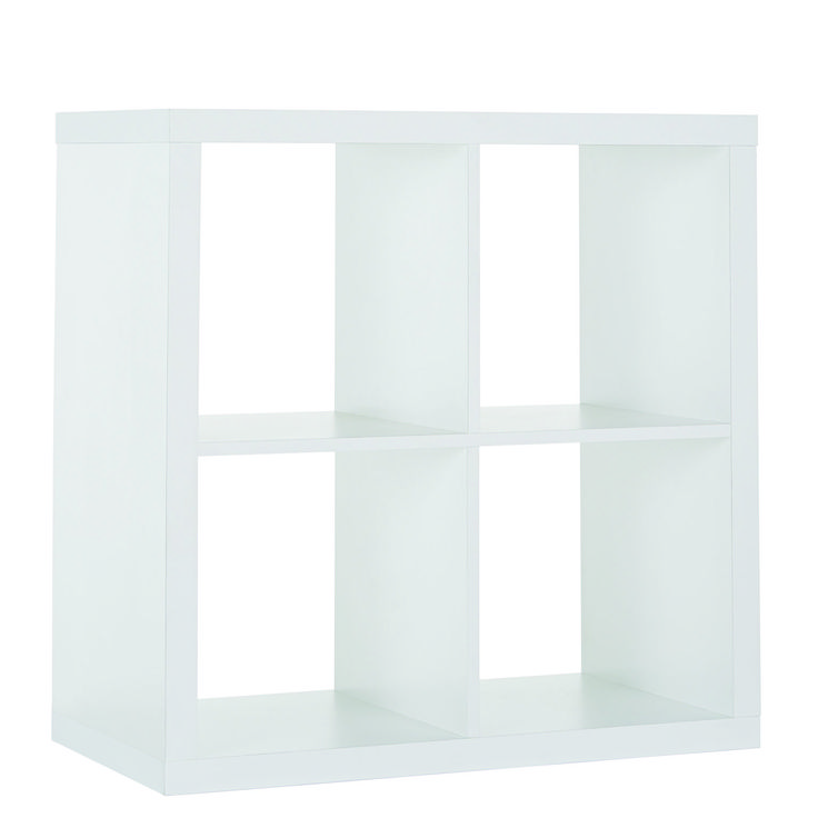 Style, practicality and organisation are a breeze with the popular Matrix 4 Cube Storage Shelf. Designed to coordinate with an array of cube inserts, drawers and baskets to suit your taste. Available in a choice of two great colours; white or black/brown. Price $59.