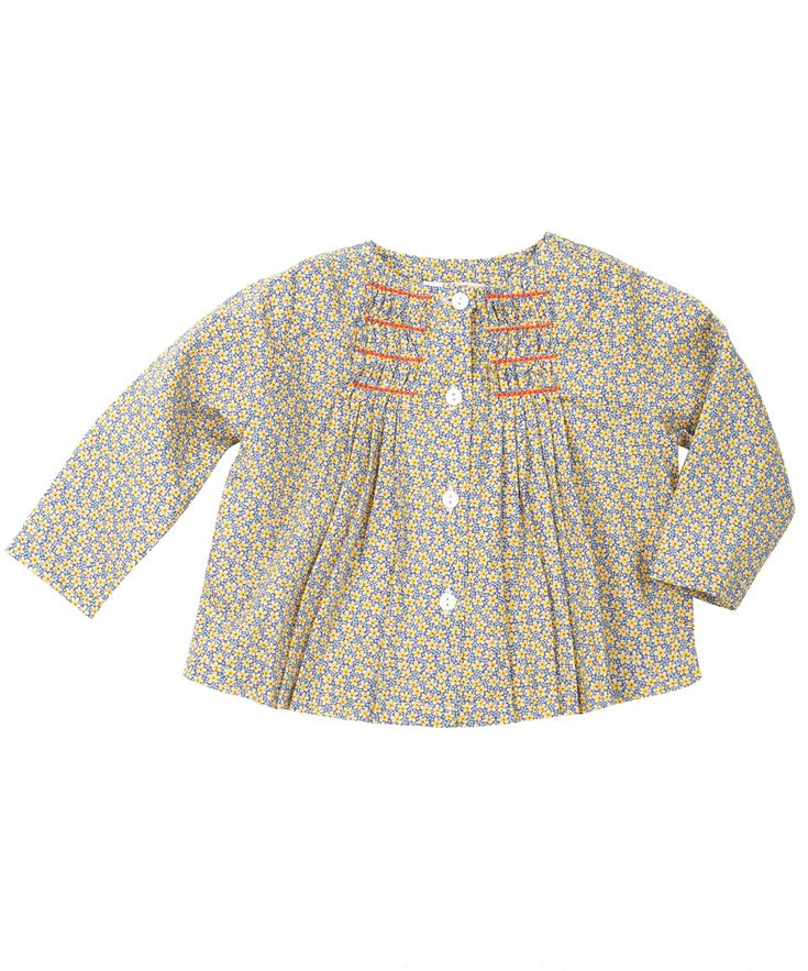 Blue Floral Print Smocked Blouse, Liberty London Childrenswear. Shop more clothes from the Liberty London Childrenswear collection online at...