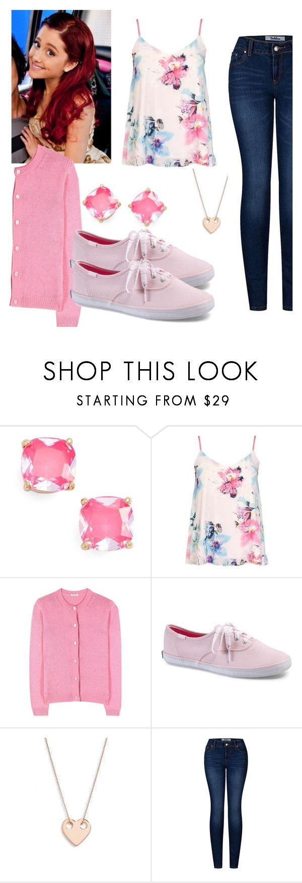 """Cat Valentine (Victorious) Inspired Outfit"" by desiremeb ❤ liked on Polyvore featuring Kate Spade, Dorothy Perkins, Miu Miu, Keds, Ginette NY, 2LUV, ArianaGrande, Victorious, CatValentine and SamAndCat"