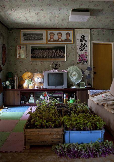 Inside a north korean house - Chilbo sea North Korea, via Flickr.