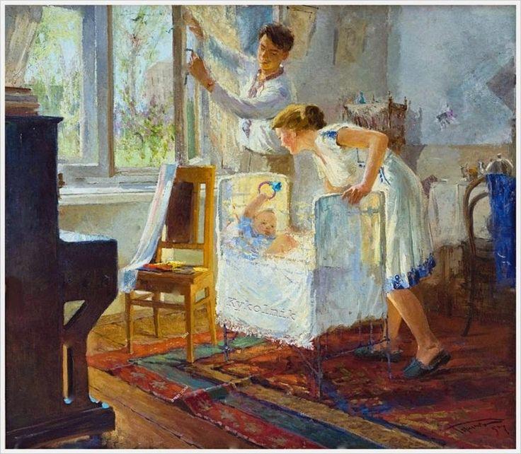 Горинов Спартак Петрович (Россия 1925-2010) «Первая весна» 1957