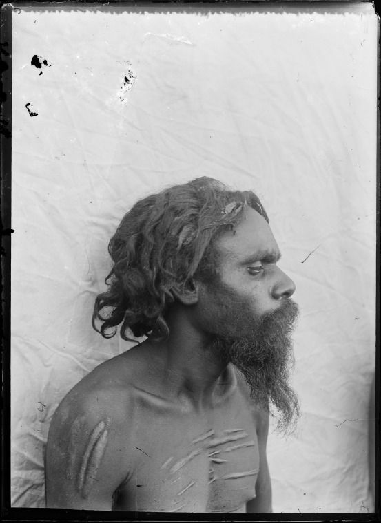 230804PD: Portrait of Aboriginal man, possibly from Derby, ca. 1898. (Click to Start Zoom)