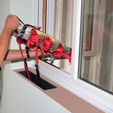 Another built-in fire ladder, this time concealed underneath a removable windowsill.