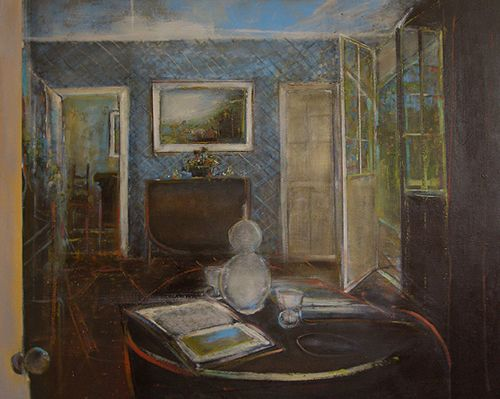 "James Ridyard, Colbourne Lodge, High Park, oil on panel, 48""x60"". $3500"