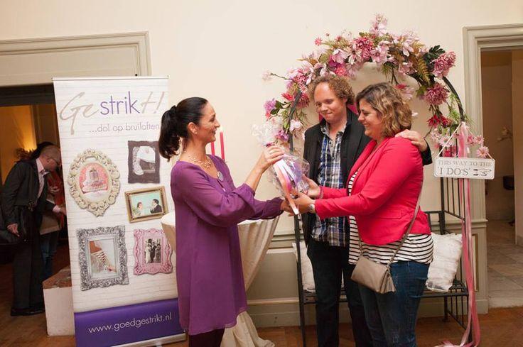 Winnaar Gestrikt! weddingconsult tijdens Inspiratieavond 'Trouwen in de Betuwe'