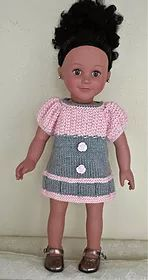 dollie-clothes | Pink & Grey Dress AMG