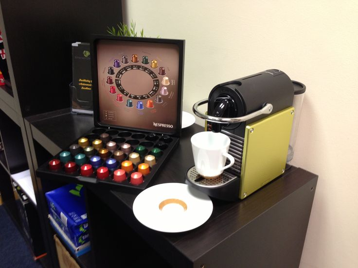 Could not survive without our Nespresso and it matches out corporate colours perfectly!!