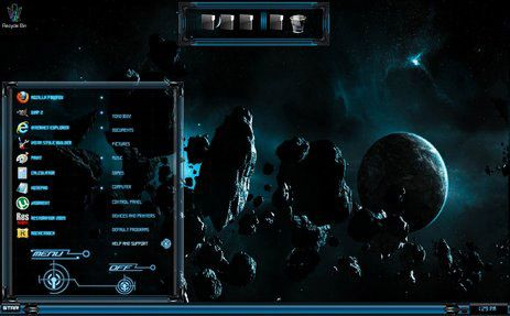 Blue Glass (sci fi 2) for windows 7 themes - free Windows 7 Visual Styles, Windowblinds, Miscellaneous themes download
