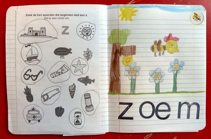 Letter /z/ van Zoem gemaakt door Misja in het lettergroeiboekje.