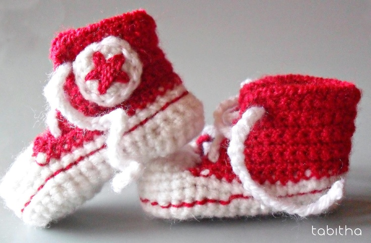 Free Crochet Pattern For Baby Converse : free converse baby shoes crochet pattern CROCHET and ...