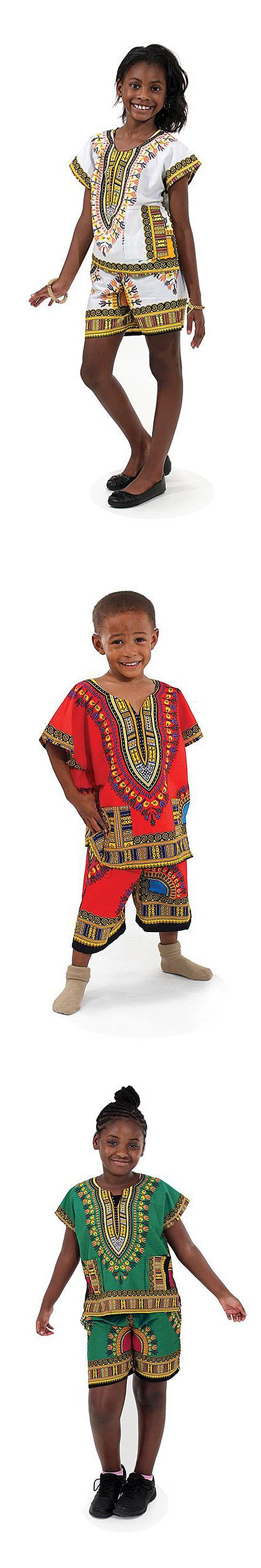 African Style Kids Clothing from Africa Imports - Celebrate Africa with these adorable kids clothing in traditional African colors and patterns.  Kids will love wearing the colorful clothing that celebrates African traditions. Perfect as a Christmas present for the kids!  #kids #kidsfashion #african #africa #dressup #fashion #clothing #kidsclothes #colorful #pattern #gift #giftit #kidsgift