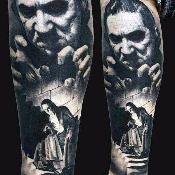 40 Dracula Tattoo Designs For Men