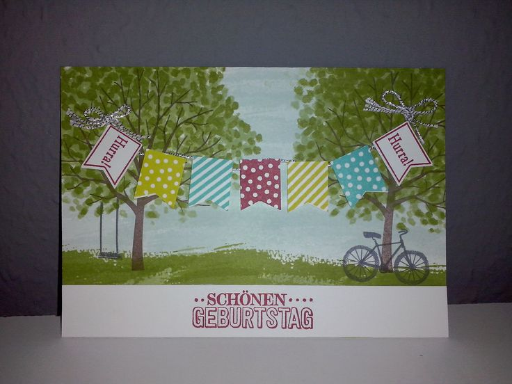 stampin up sale a bration birthday stamp and stamp set from the new springtime summer catalog 2015  TREE Frühjahr Sommer Katalog 2015 Baum der Freundschaft und Sale a bration Stempel aus dem Set zum großen Tag .... Fähnchen ect ....