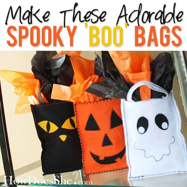 Doesn't it make you want to break out the black and orange and get to work planning a spooky party!  Thanks gals, for sharing your talent! Combine the spOOky bOO bags with the FREE boo printable and you will be the hit of the neighborhood!