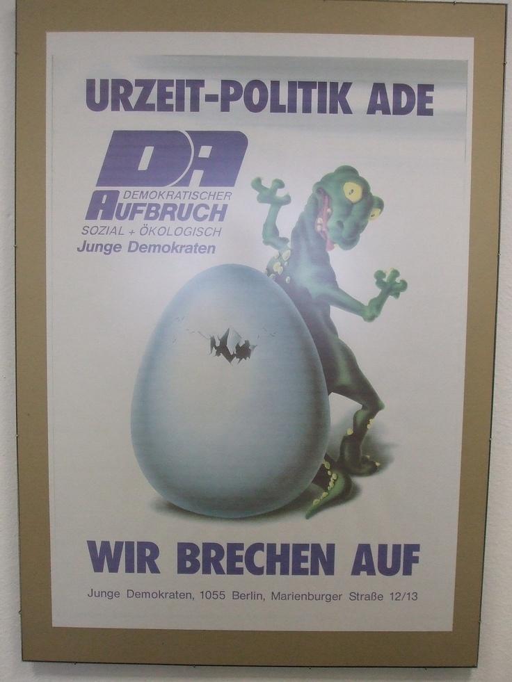 Junge Demokraten, youth wing of Demokratischer Aufbruch/Democratic Awakening, East Germany 1990