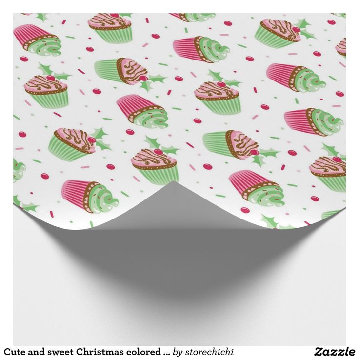 Cute and sweet Christmas colored cupcake